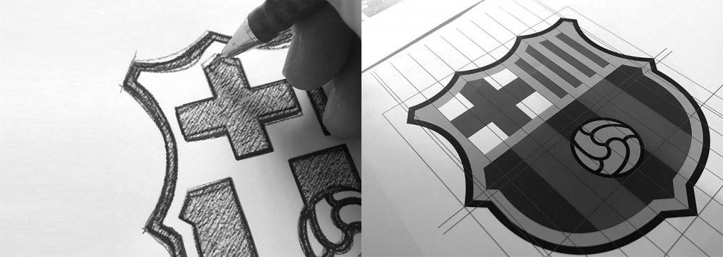 nuevo escudo del fc barcelona proceso