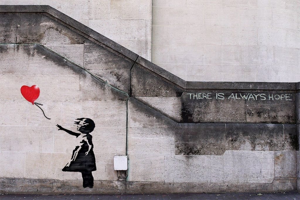 'Girl With Balloon', Banksy. Londres, 2016