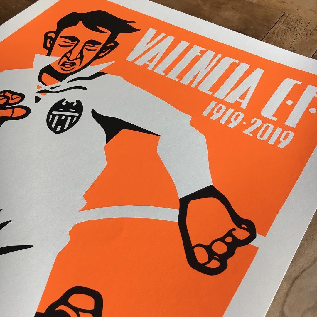 centenario del Valencia cartel