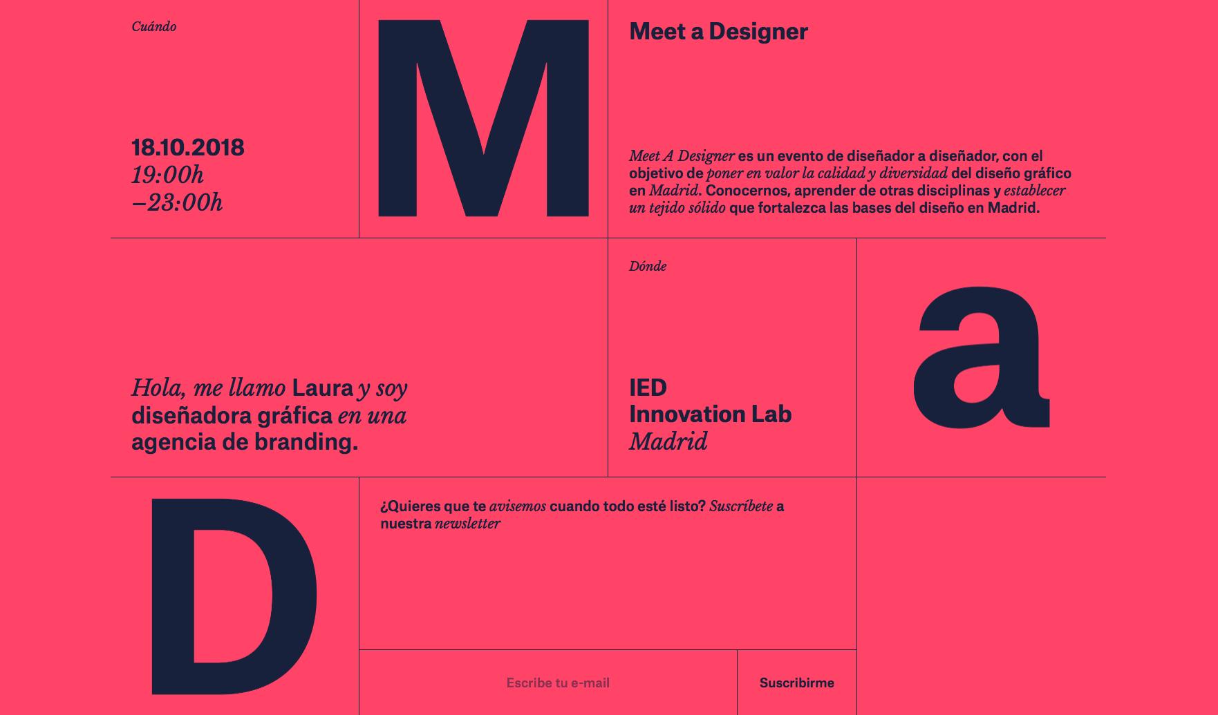 meet a designer horario