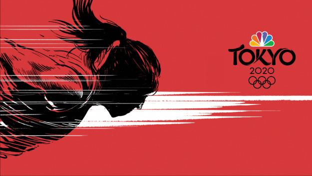 juegos olímpicos de tokio fondo rojo