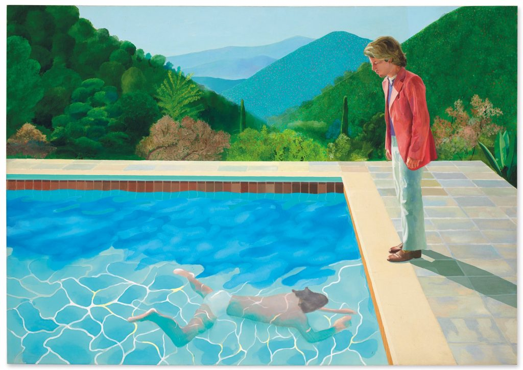 david hockney retrato piscina