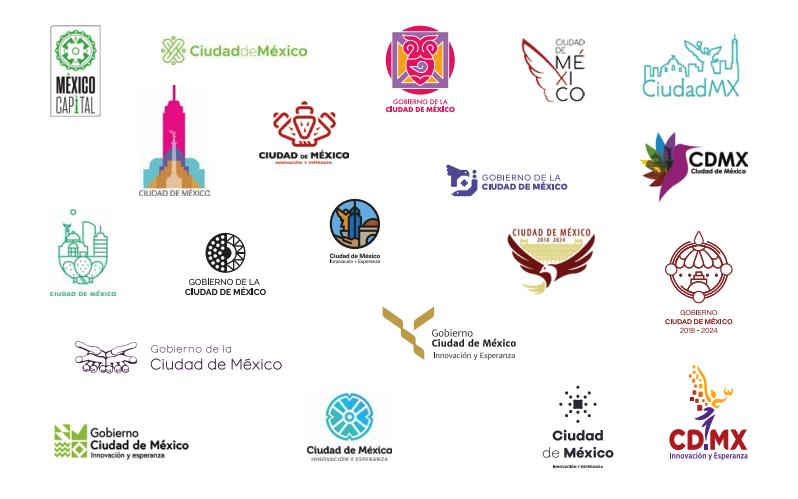 Desvelados los 20 logos finalistas del concurso de la nueva imagen del gobierno de la Ciudad de México