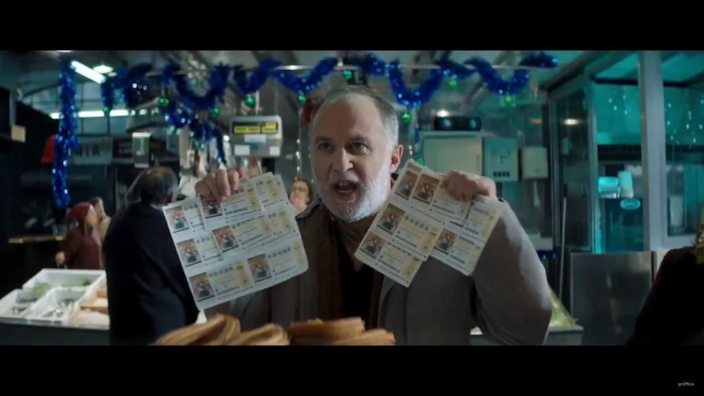 anuncio de la lotería de Navidad fotograma