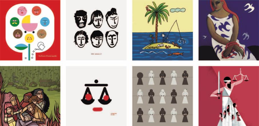La Nau acoge a 30 ilustradores valencianos en la exposición que homenaje derechos humanos