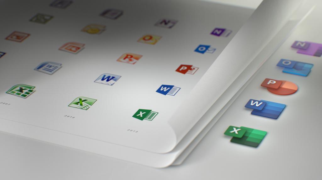 iconos de office evolucion todos los programas