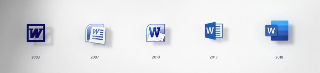 iconos de office evolucion