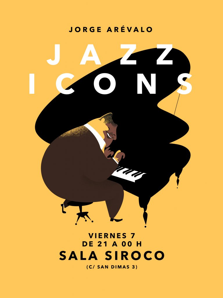 Jorge Arévalo cartel jazz piano