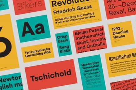 Steradian, la nueva tipografía de Eduardo Manso que va un poco más allá de la pura geometría