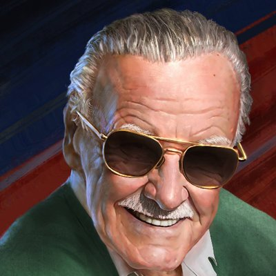 stan lee retrato
