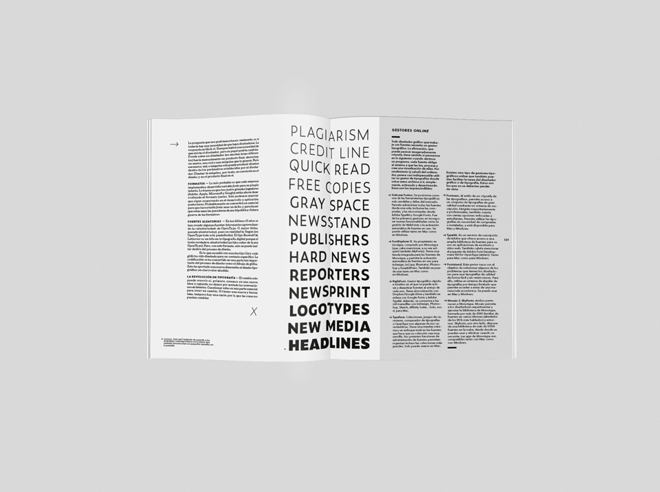 revista graffica underware tipografia mockup 4 cuatro