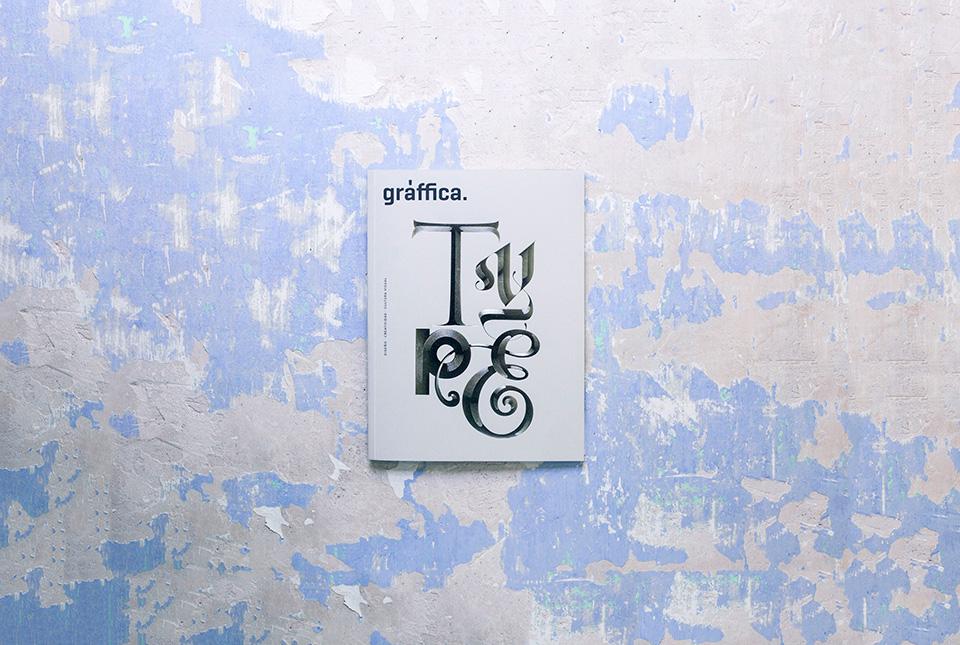 revista graffica 11 tipografia portada fondo azul 1
