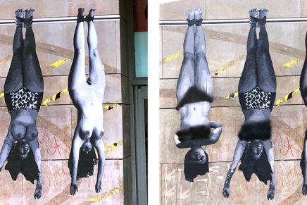 Los desnudos del mural de la EASDV han sido censurados con espray