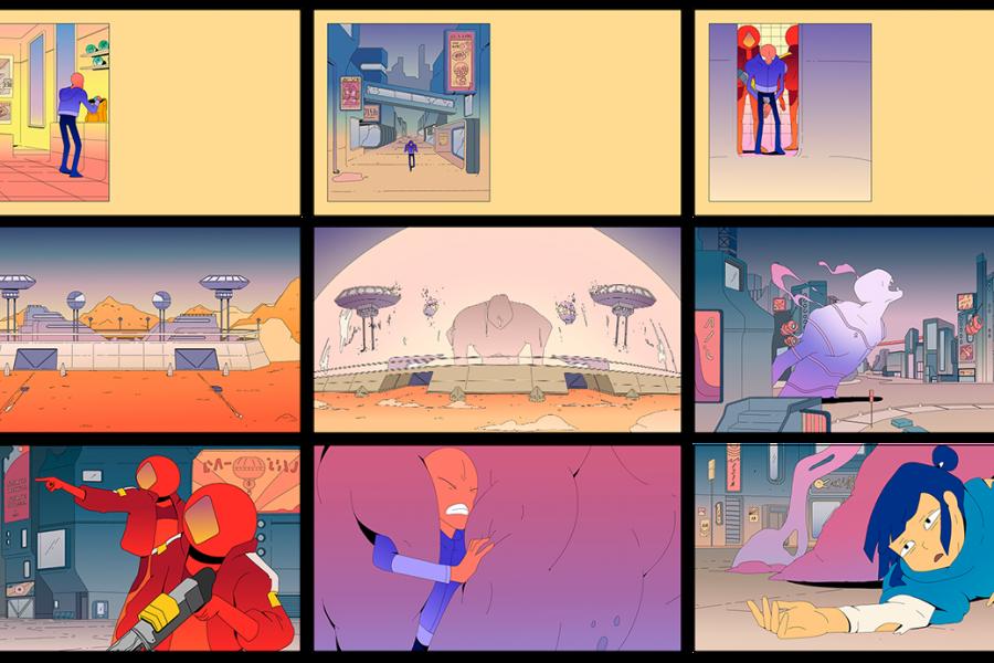 El videoclip de SIAMÉS 'Mr. Fear' animado por Rudo Company