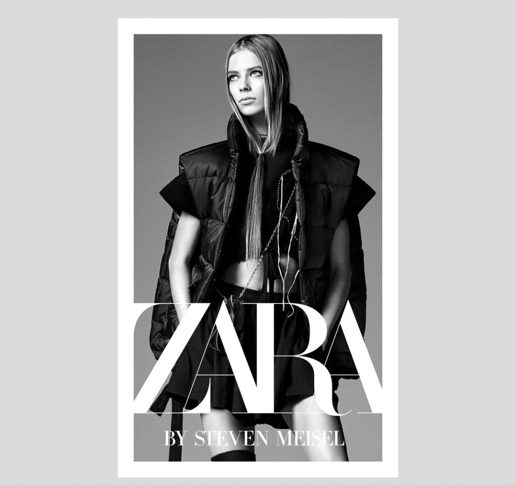 logo Zara en un cartel publicitario