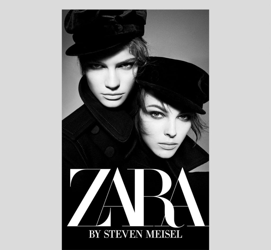 logo Zara en cartel de publicidad