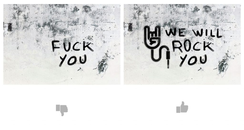 Fuck you - We will rock you