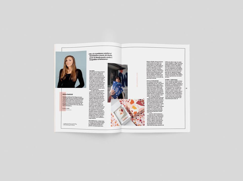 revista graffica 13 mujeres deva pardue mockup1 uno