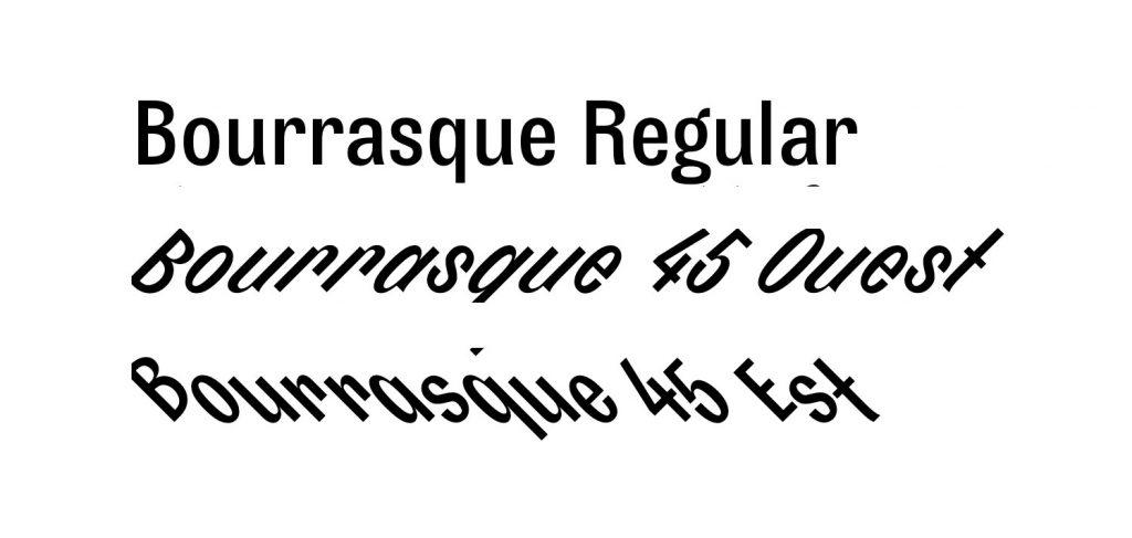 Bourrasque, la tipografía más dinámica y 'freak' de Bureau Brut