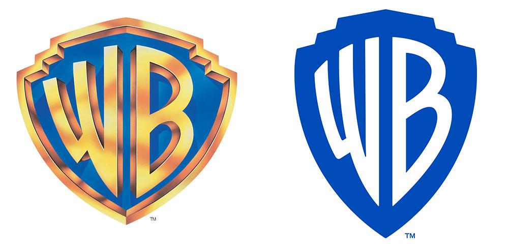 Este es el nuevo rediseño del logo de Warner Bross creado por Pentagram