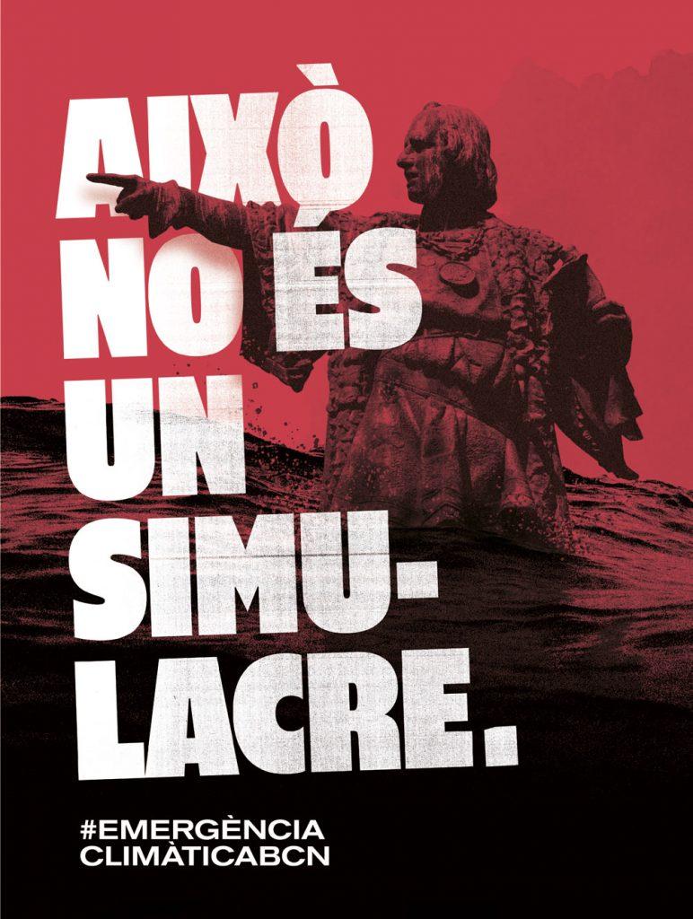 'Esto no es un simulacro', la campaña del Ayuntamiento de Barcelona sobre la declaración de emergencia climática