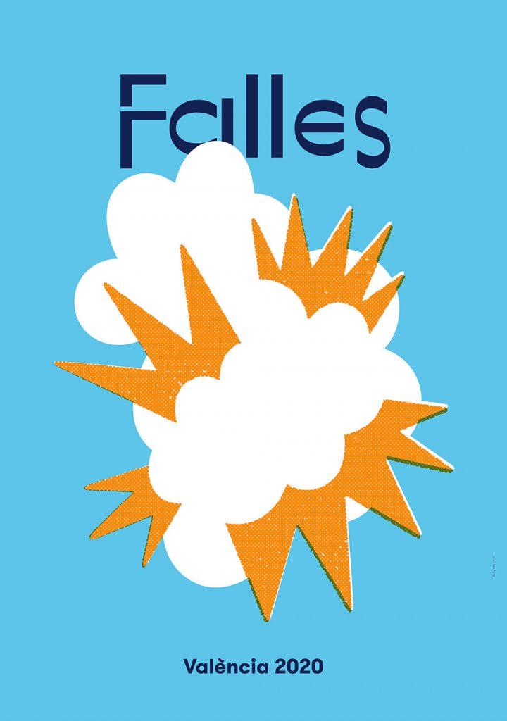 Así es el cartel de Fallas 2020, firmado por Dídac Ballester.