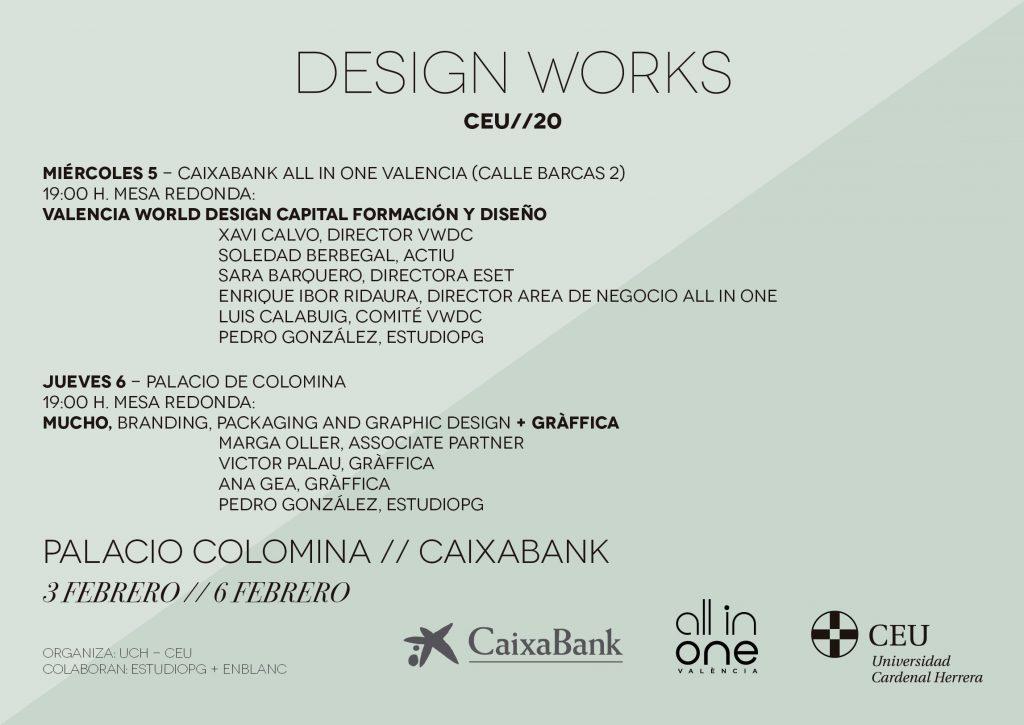 Programa miércoles 5 y jueves 6 de febrero 2020 de las jornadas de diseño UCH-CEU