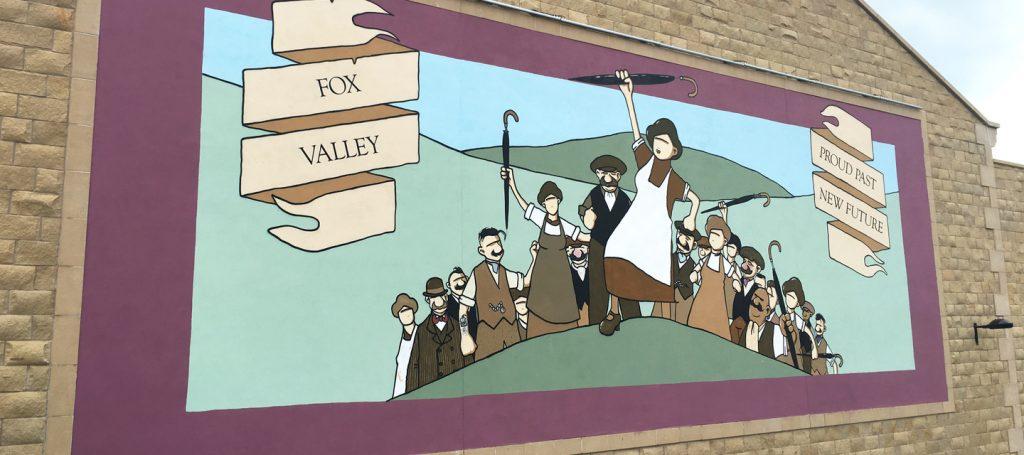 El ilustrador de la sociedad británica trabajadora, Pete McKee - Mural Fox Valley