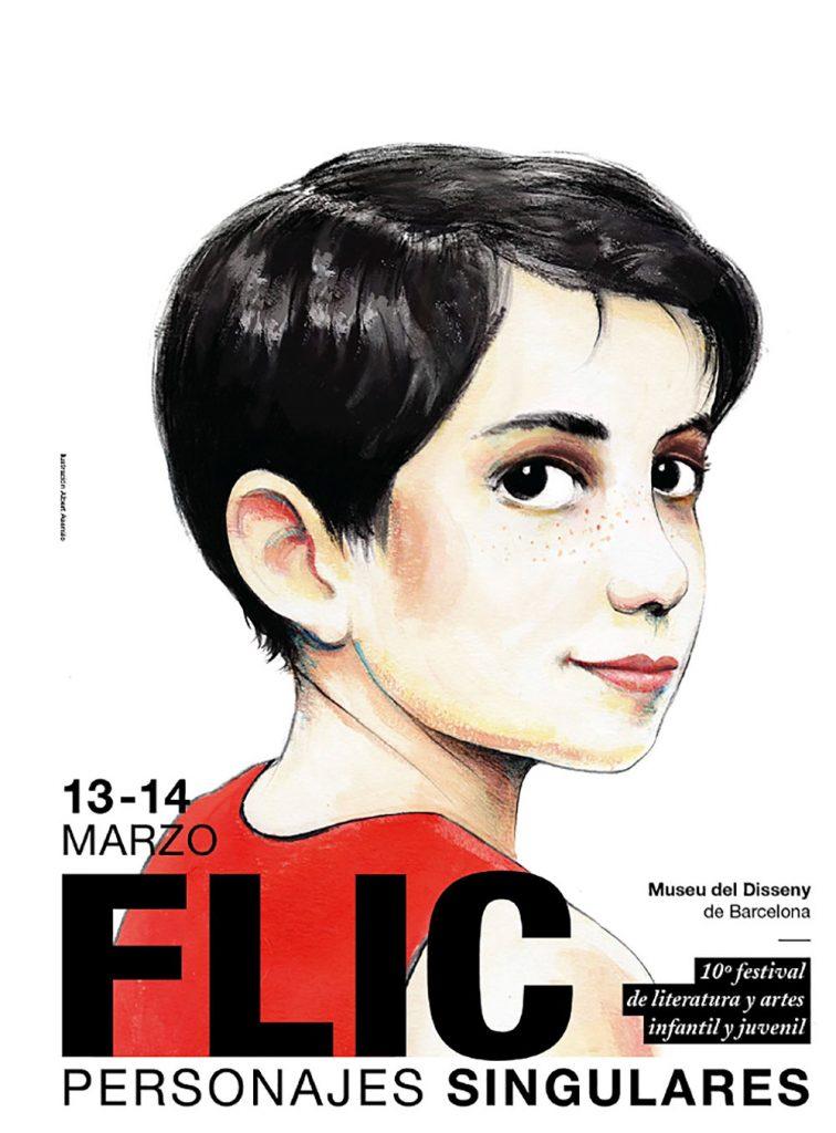 El FLIC Festival 2020 homenajea a los personajes singulares de la literatura ilustrada. Cartel oficial del evento.