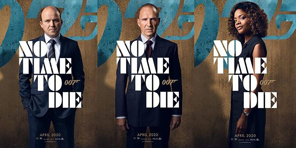 No time to die cartel oficial con retratos de los personajes.