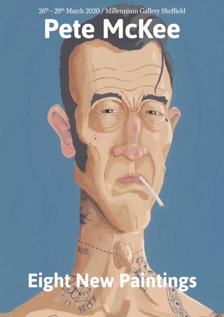 Cartel de la exposición Eight New Paintings por Pete McKee