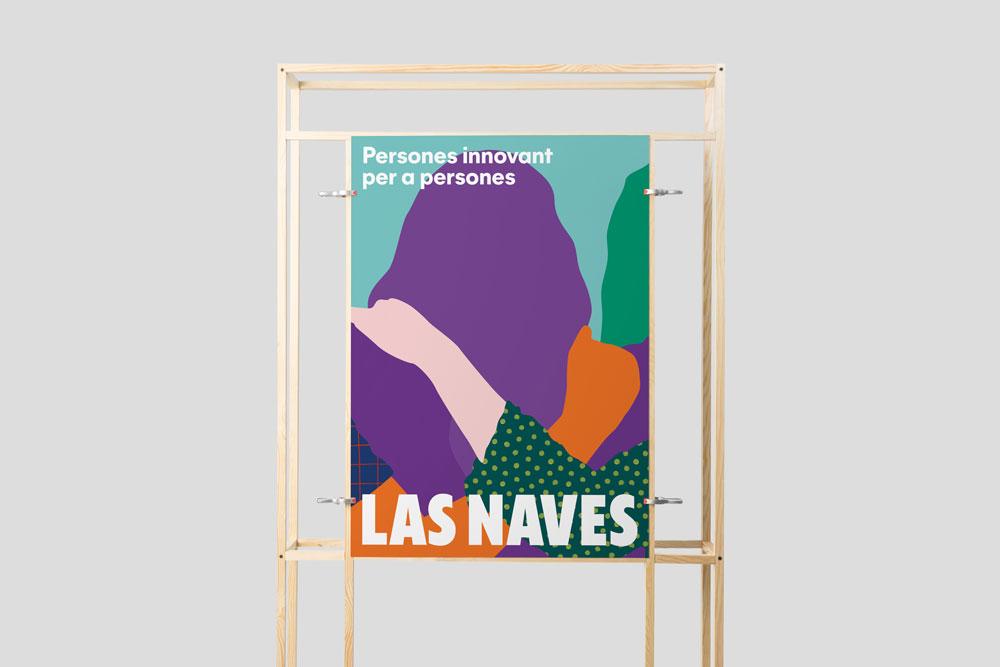 Esta es la nueva identidad corporativa de Las Naves, diseñada por Estudio Menta - cartel