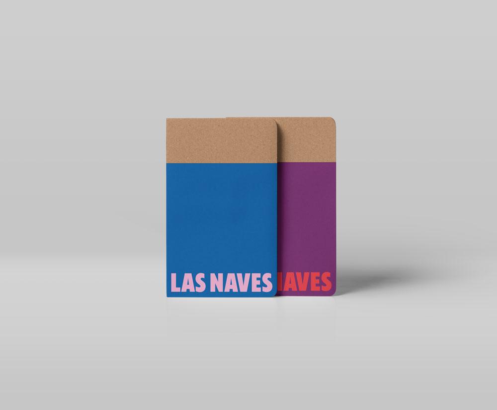 Esta es la nueva identidad corporativa de Las Naves, diseñada por Estudio Menta - libretas