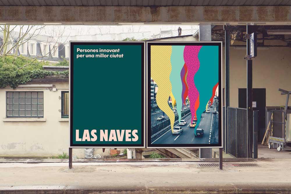 Esta es la nueva identidad corporativa de Las Naves, diseñada por Estudio Menta - propuesta de carteles