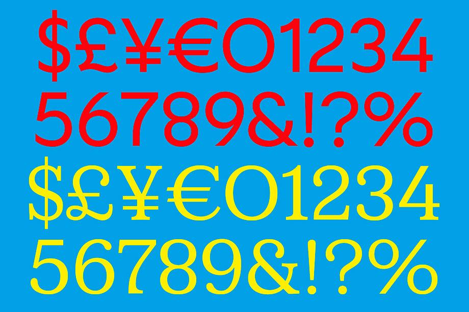 Números de FS Split Sans