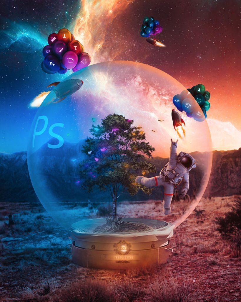 Photoshop cumple 30 años - Imagen para el 30 aniversario de photoshop