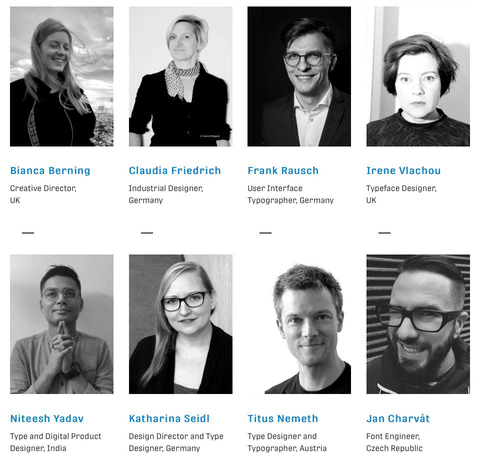 Ponentes de TypeTech MeetUp, el evento de los tipógrafos durante la Munich Creative Business Week (MCBW) 2020