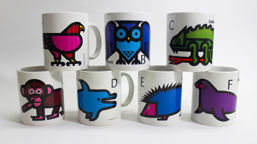 Taza ABC animales Cruz Novillo