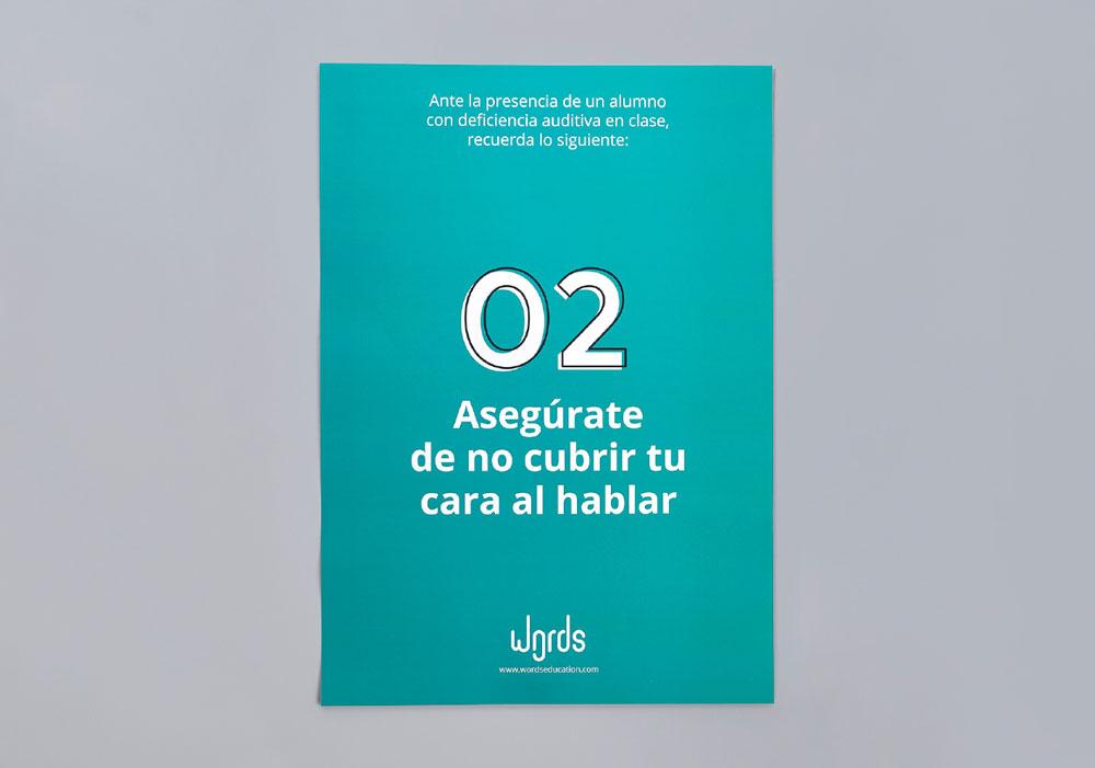 Words, la herramienta para ayudar a las personas con déficit auditivo, 3er Premio Acento G 2019 - cartel verde