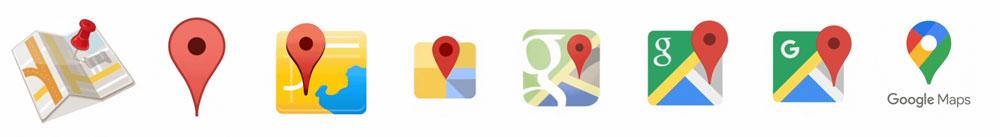 El nuevo icono de Google Maps se despide de la G - evolución del icono de Google Maps