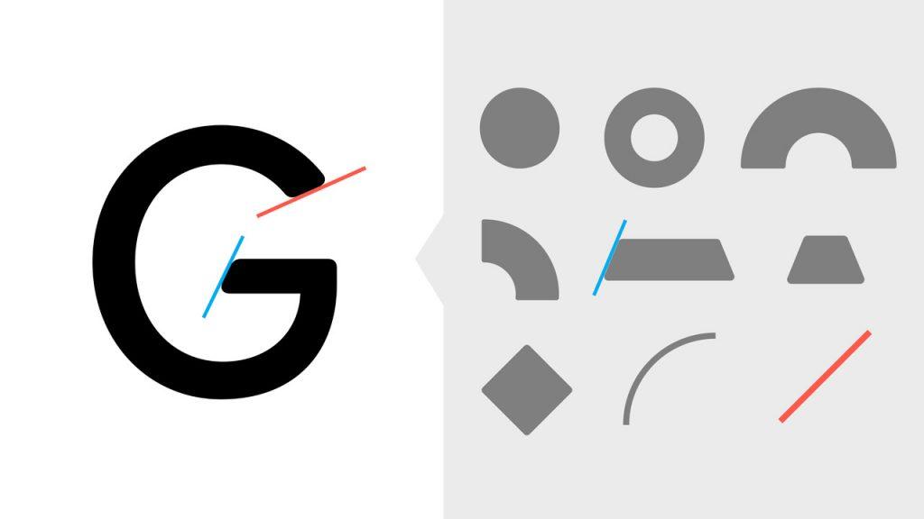 «los ángulos de la tipografía vienen del imagotipo del cual también se crea un sistema de rejilla base para desarrollar la iconografía»