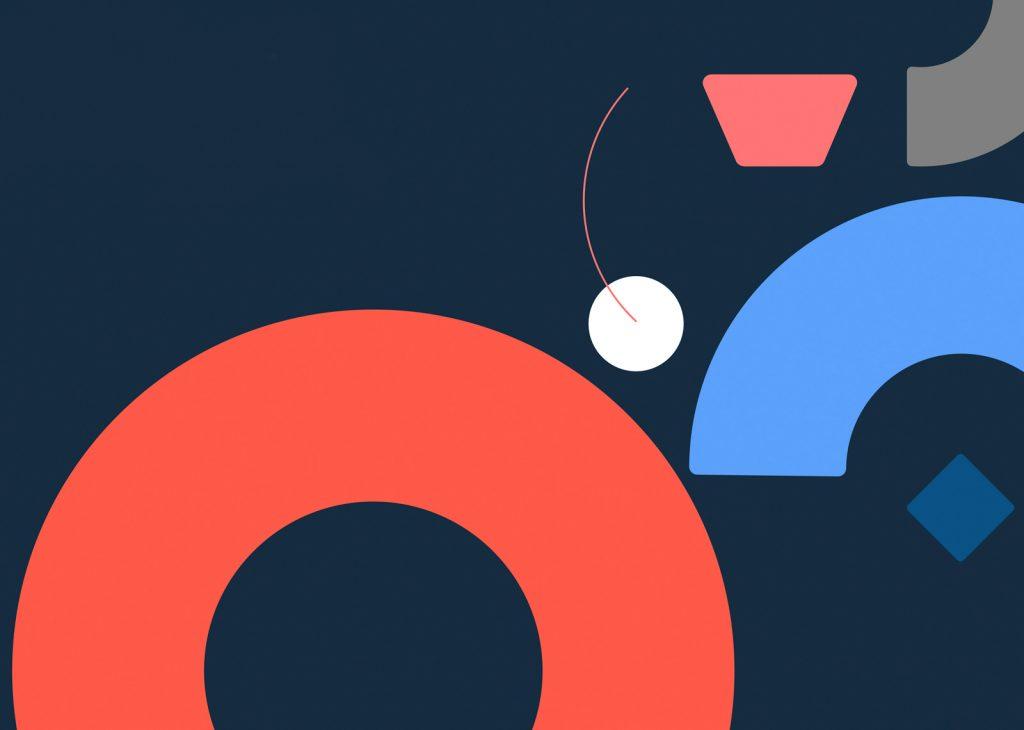 Cuando un rebranding mima a su nueva tipografía corporativa hecha a medida - elementos geométricos de la imagen de iwoca.
