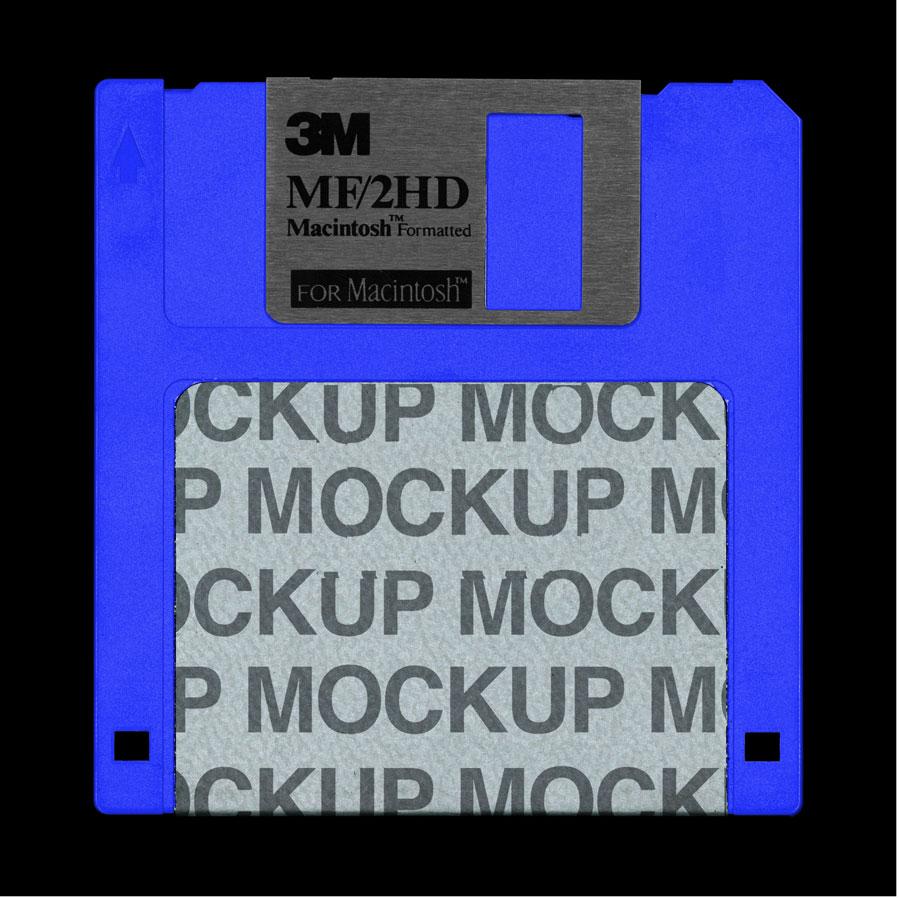 10 mockups gratis para Photoshop con tintes vintage - mockup disquete