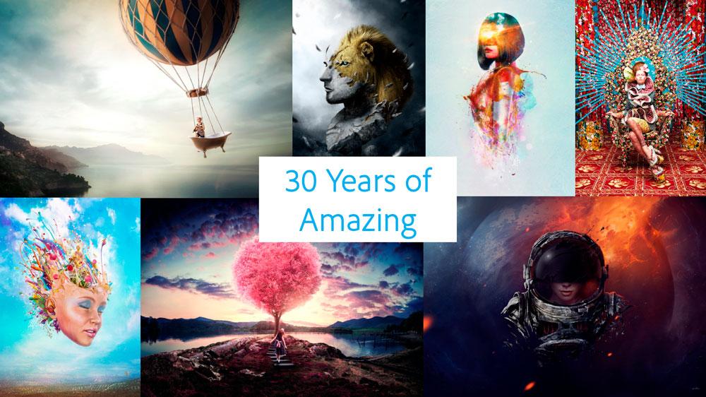 Estas son las nuevas actualizaciones de Photoshop para celebrar su 30 aniversario