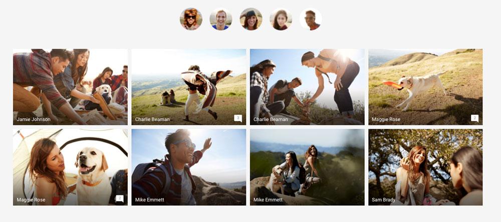 poner nombres a las caras en Google Photos