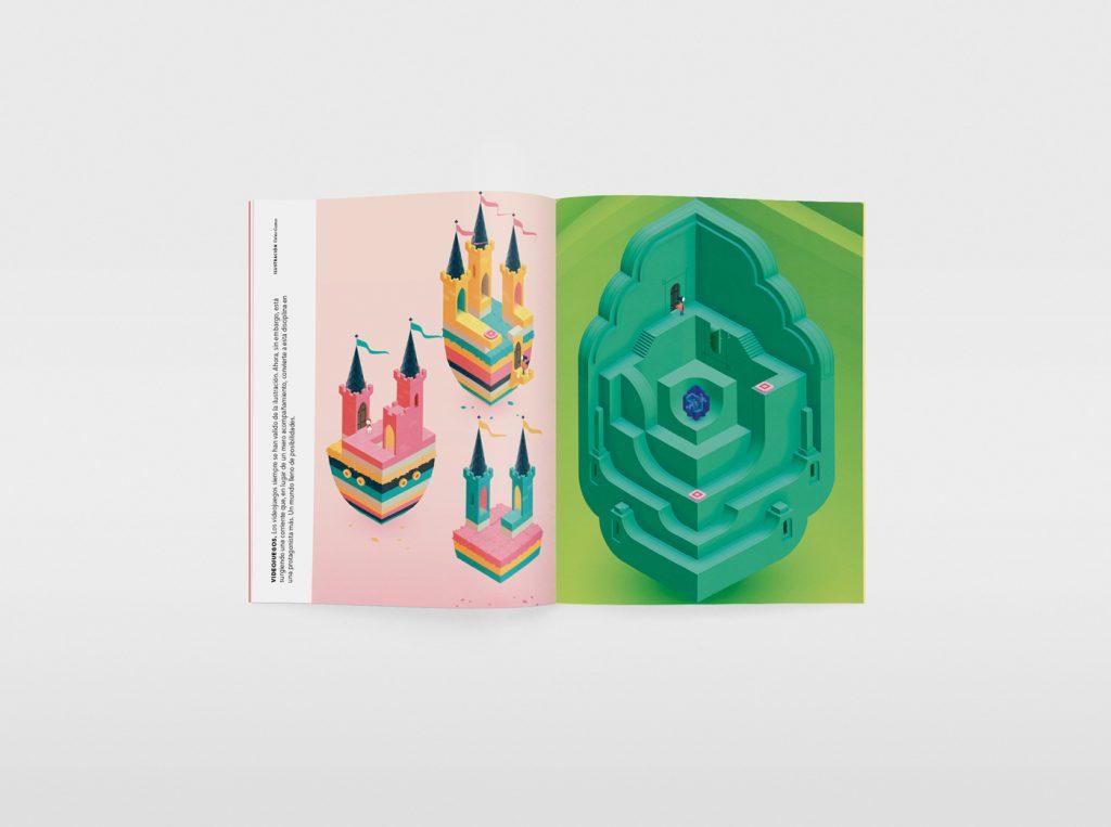 El nuevo número de la revista Gràffica, una oda a la ilustración. Galería de proyectos: Monument Valley, videojuego.