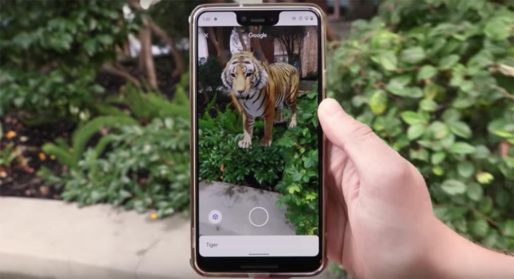 Un lobo en el salón de casa: así sorprende esta divertida funcionalidad de Google AR. Animales 3D Google.
