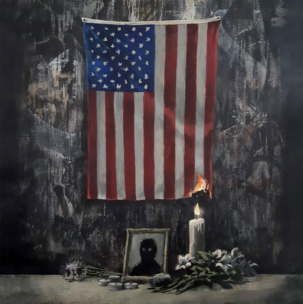 Banksy homenajea a George Floyd y condena el racismo en su última obra