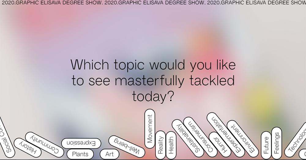 Graphic Elisava Degree Show, el primer espacio online para presentar de forma virtual sus proyectos de diseño gráfico y editorial