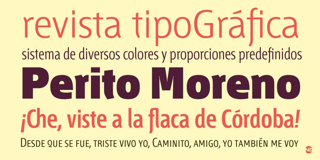Tipografía Chaco
